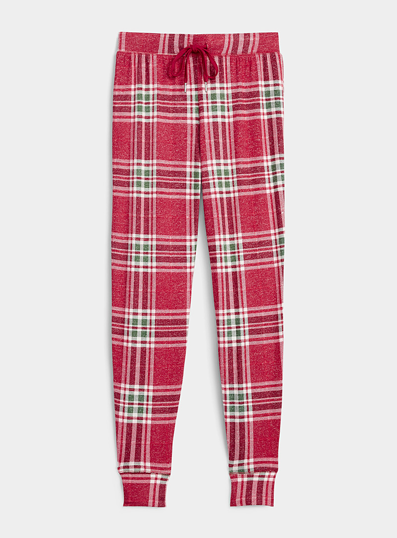 Wintry pattern eco-friendly viscose joggers