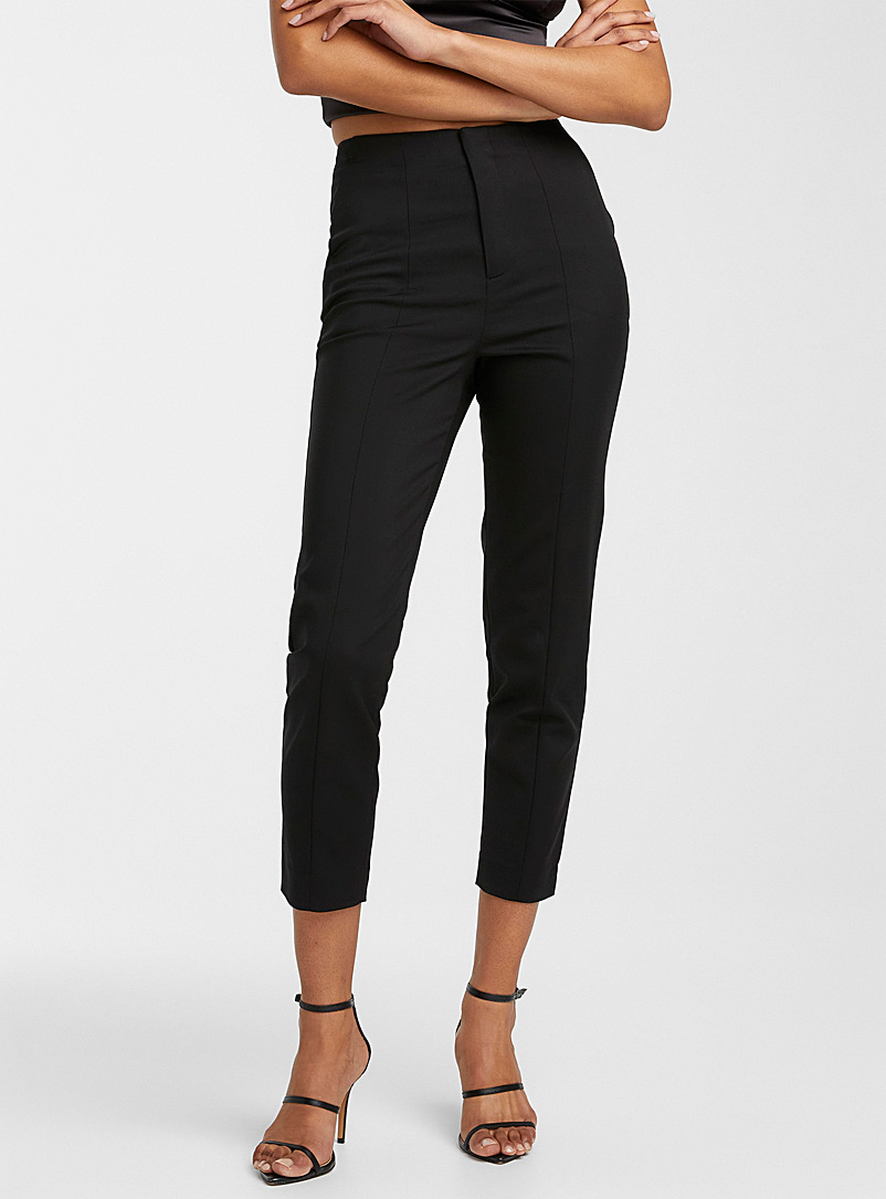 Icône Black Stretch cotton slim pant for women