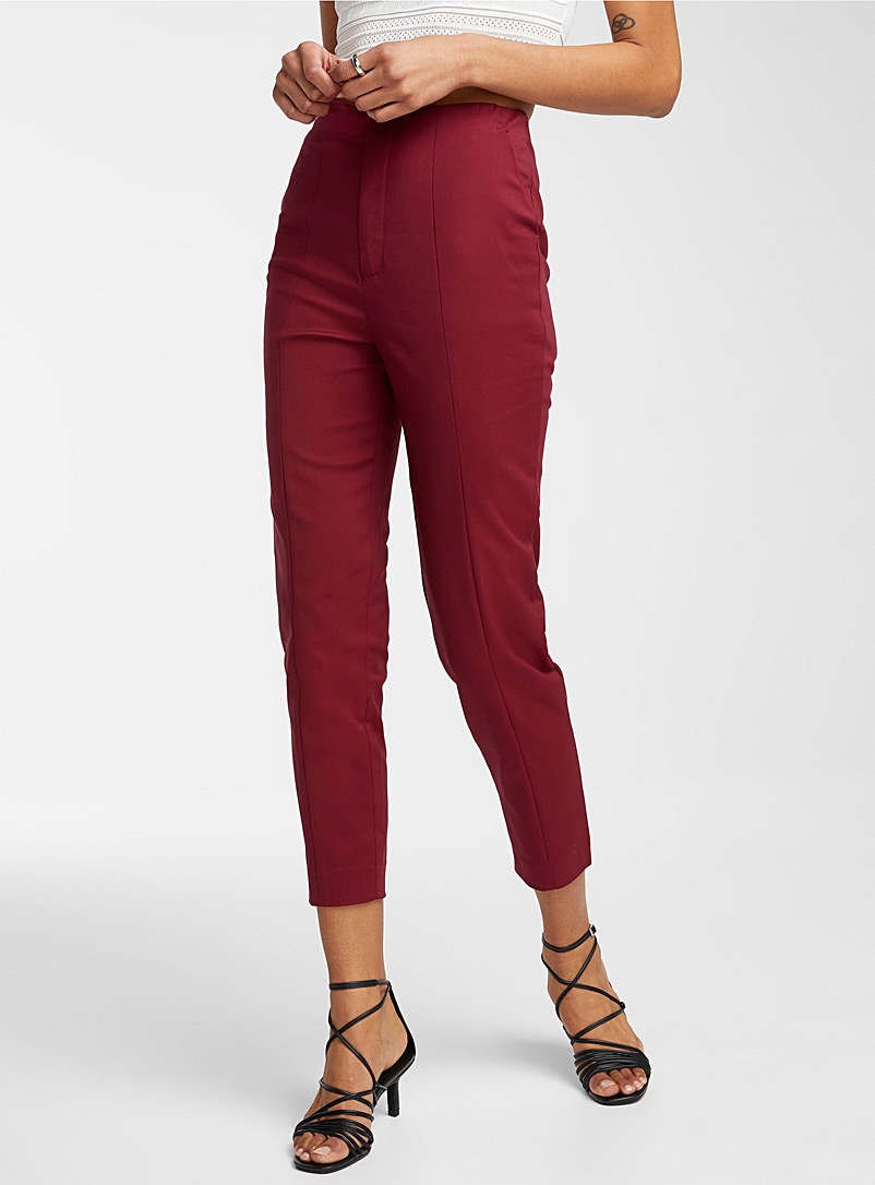Icône Ruby Red Stretch cotton slim pant for women