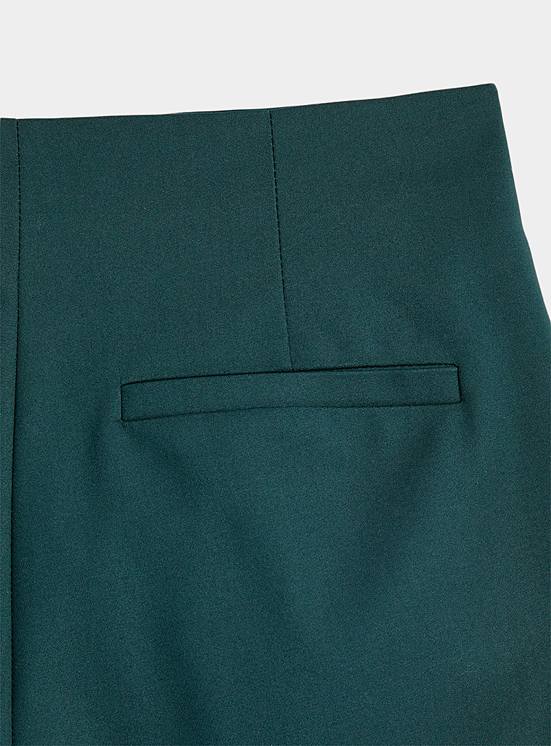 Icône Green Stretch cotton short for women