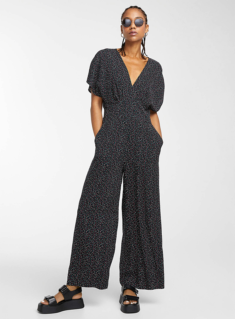 Icône Assorted Eco-friendly viscose cap-sleeve jumpsuit for women