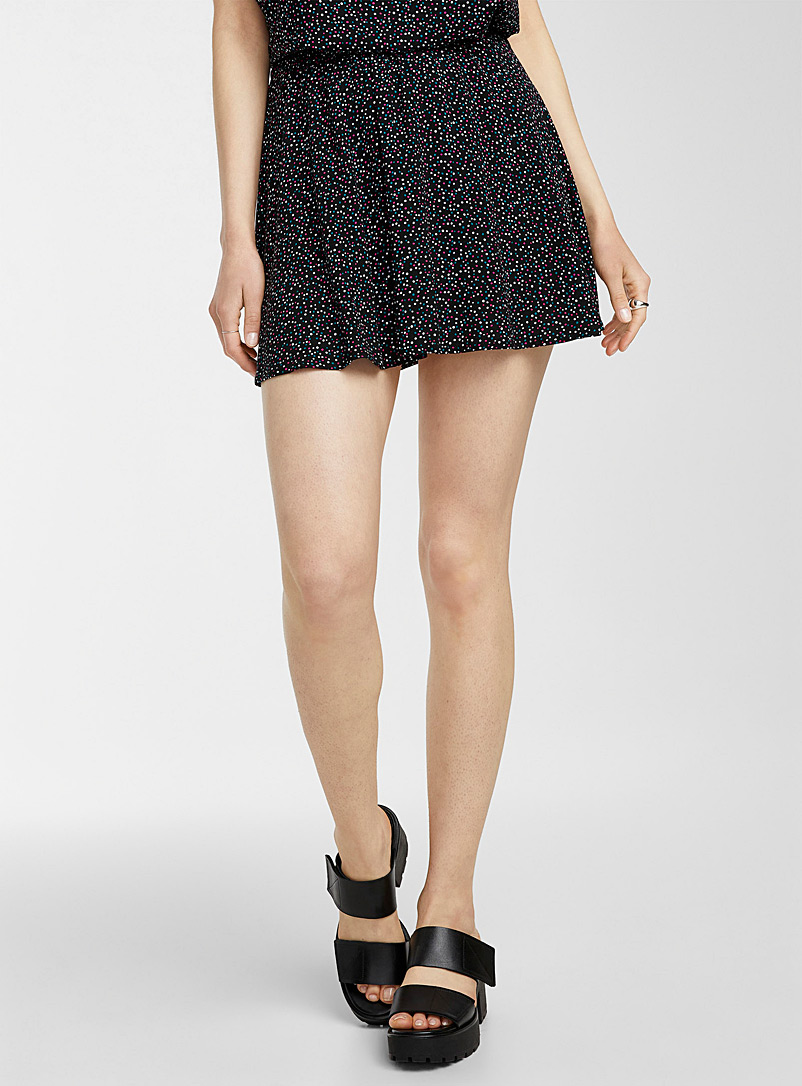 Icône Assorted Patterned eco-friendly viscose miniskirt for women
