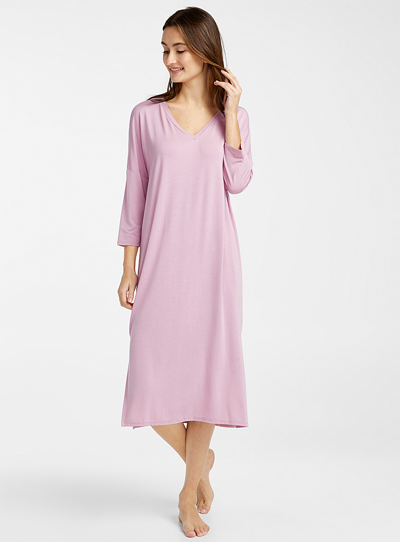3/4 sleeve modal nightgown