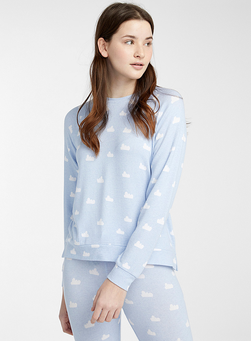 Miiyu x Twik Patterned Blue Soft as a cloud T-shirt for women