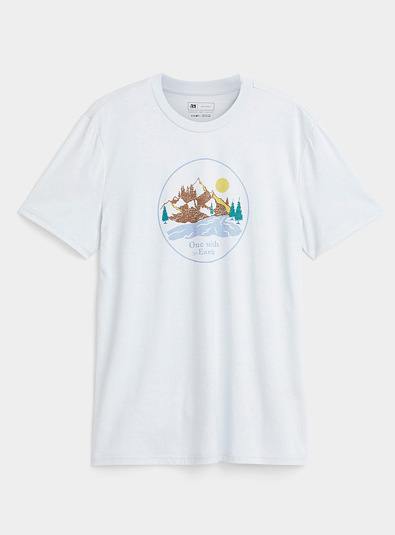 Le 31 Baby Blue Nature space T-shirt for men