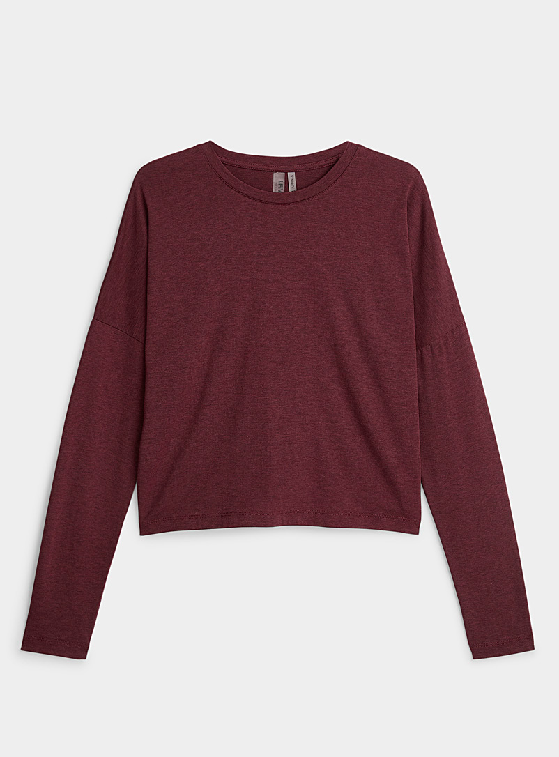 I.FIV5 Cherry Red Eco-friendly fibre drop-shoulder tee for women