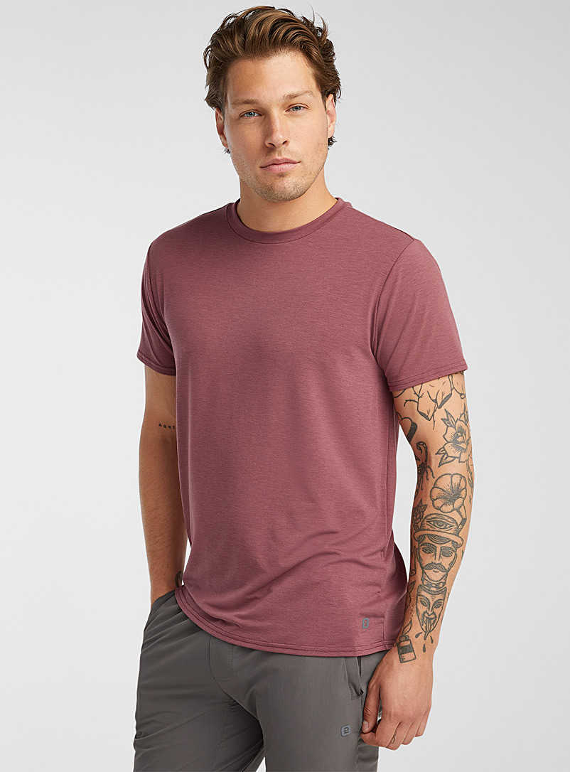 I.FIV5 Ruby Red Breathable fine jersey T-shirt for men