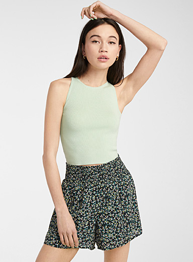 Recycled polyester print fluid short