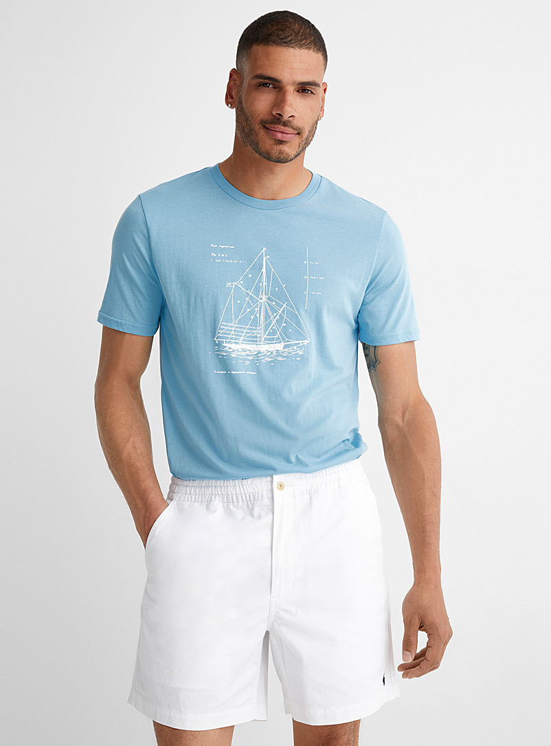 Le 31 Baby Blue Sailor's life eco-friendly blend T-shirt for men
