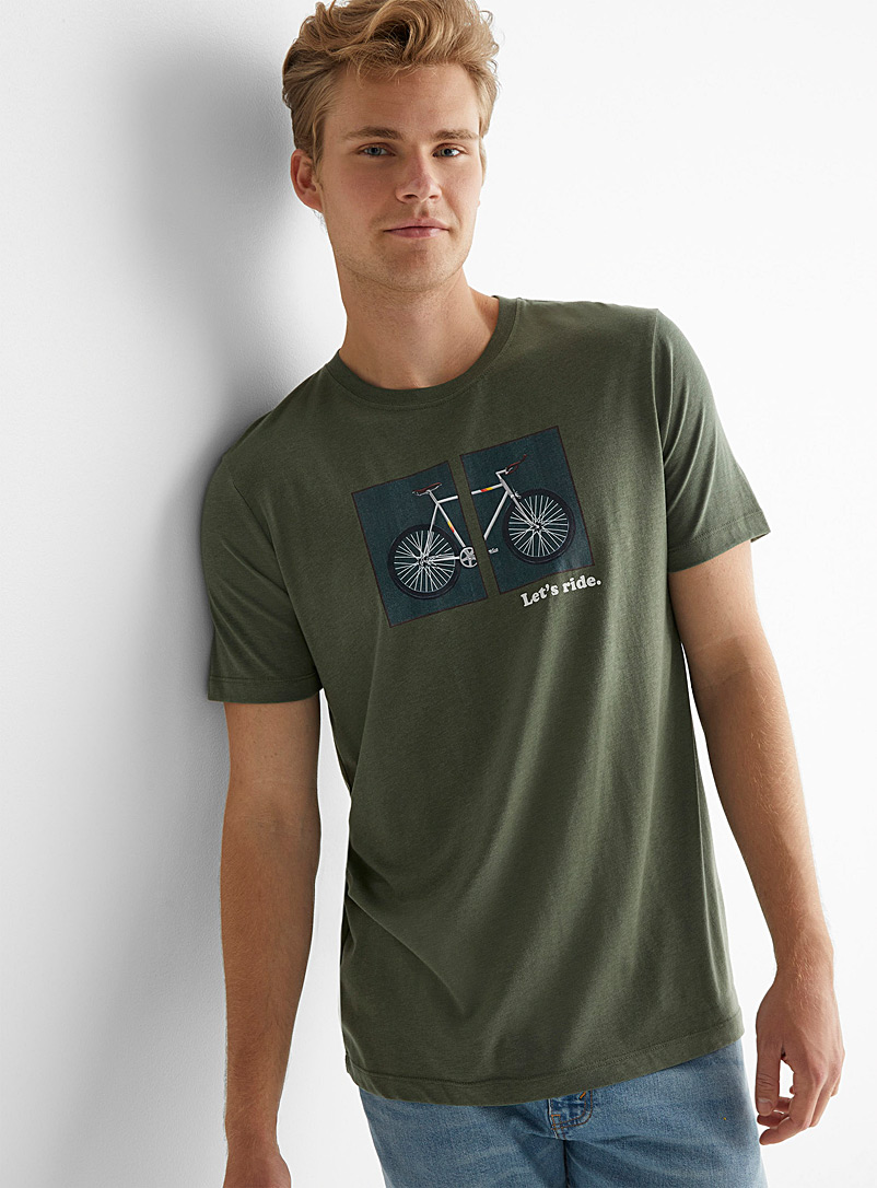 Le 31 Mossy Green Cycling T-shirt for men