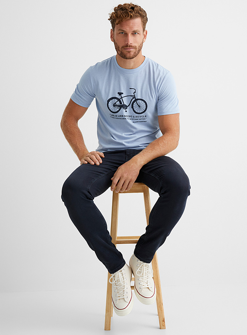 Le 31 Baby Blue Cycling T-shirt for men