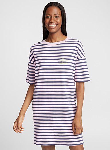 Vacation stripe nightgown
