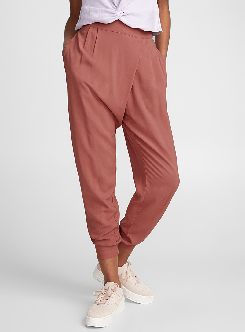Crossover harem pant - Joggers - Ruby Red