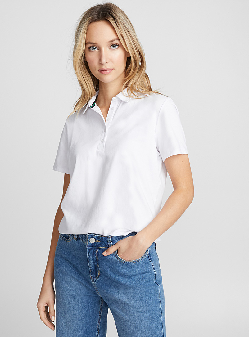 Solid jersey polo - Short Sleeves & ¾ Sleeves - White