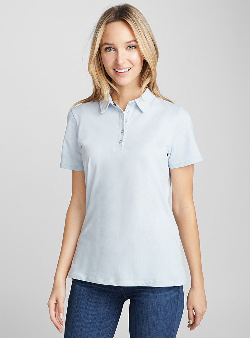 Solid jersey polo - Short Sleeves & ¾ Sleeves - Baby Blue