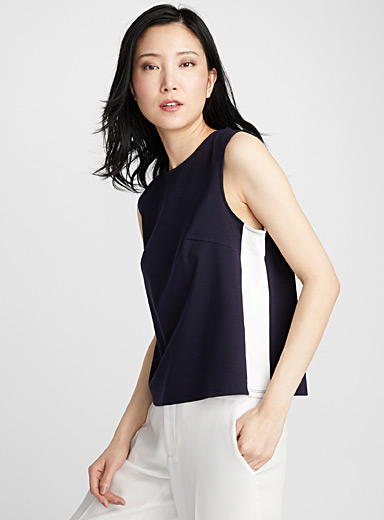 Mercerized cotton tank top