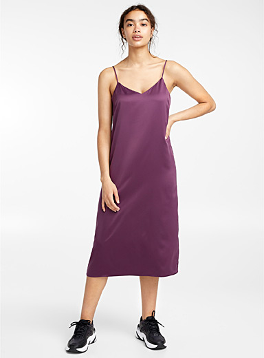 Satiny slip dress