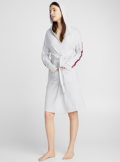 Sporty hooded robe