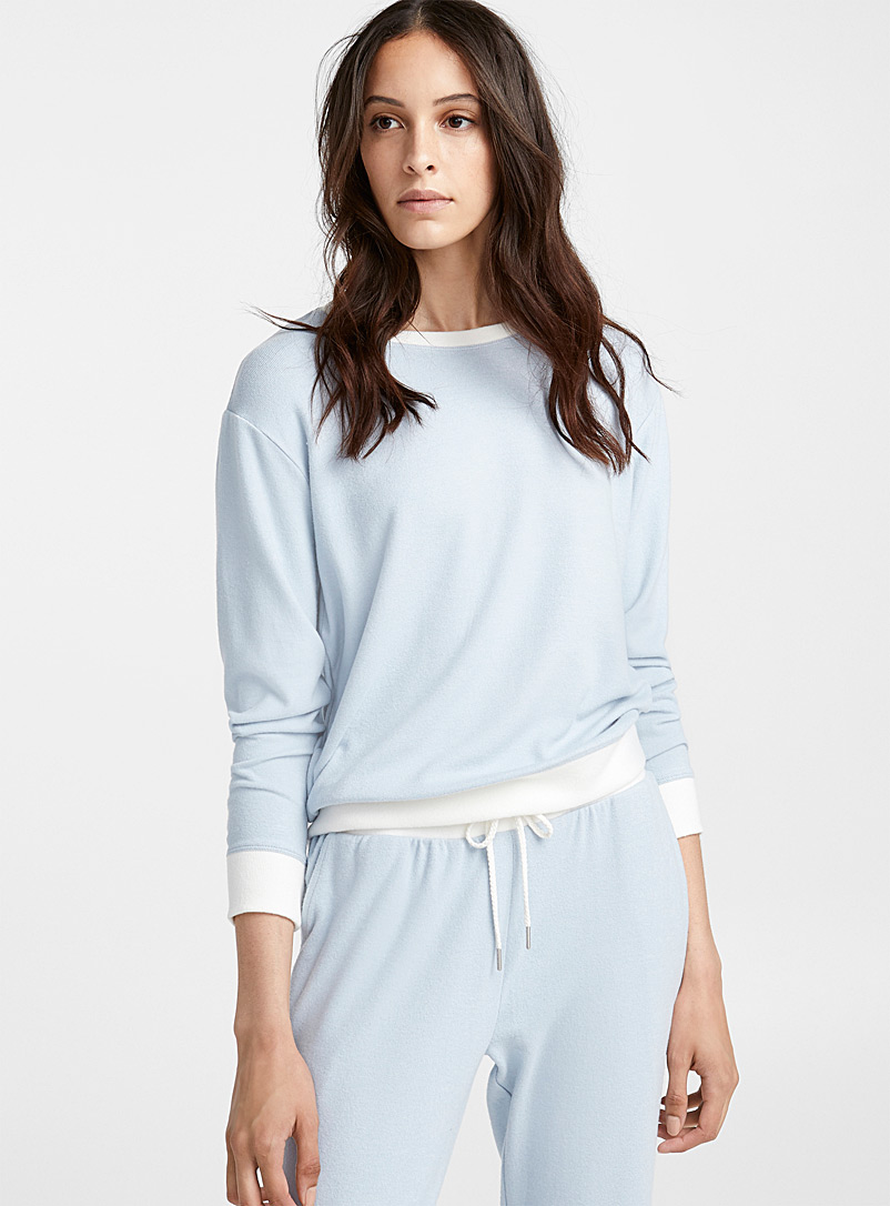 White trim sweater - Sleepwear & Leisurewear - Blue