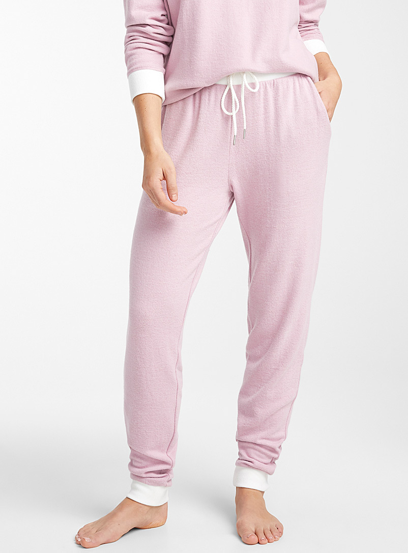 White trim joggers - Sleepwear & Leisurewear - Pink