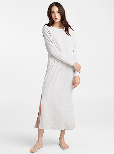 White trim nightgown