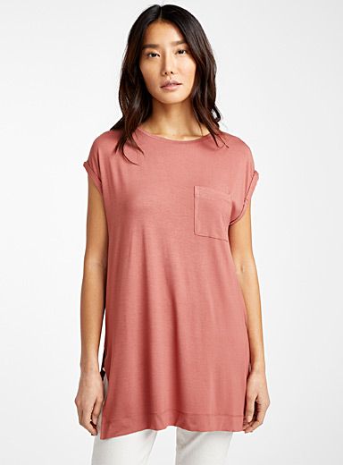 Oversized eco-friendly viscose tee
