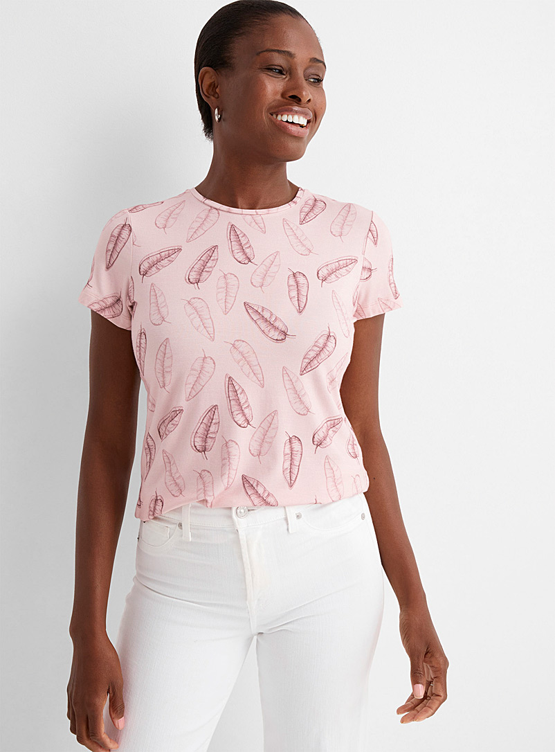 Contemporaine Sand Charming-pattern tee for women