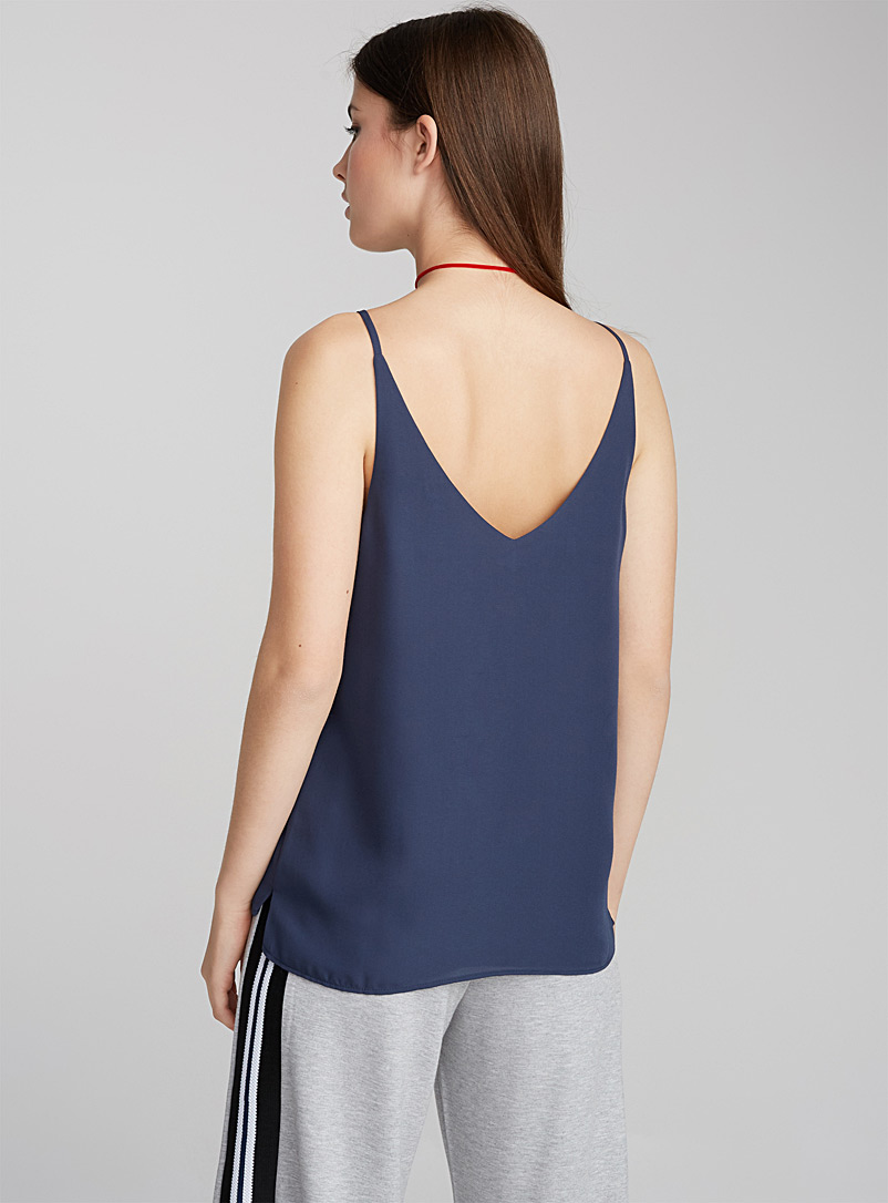 Double-voile tank - Blouses - Teal