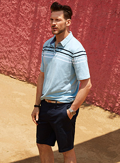 Twin stripe organic cotton polo