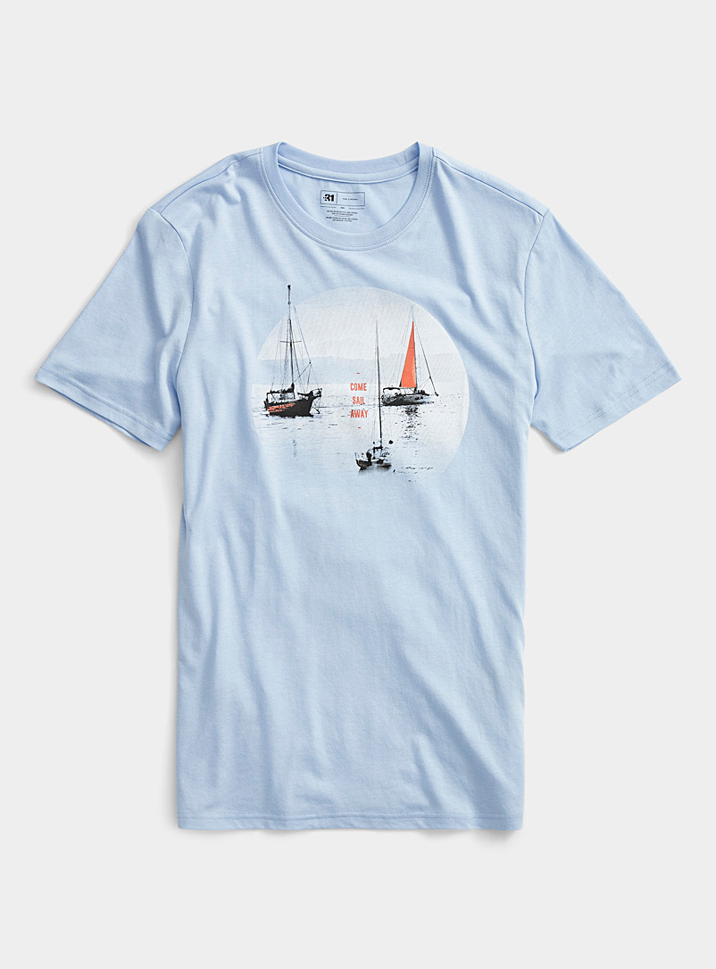 Le 31 Baby Blue Sailor T-shirt for men