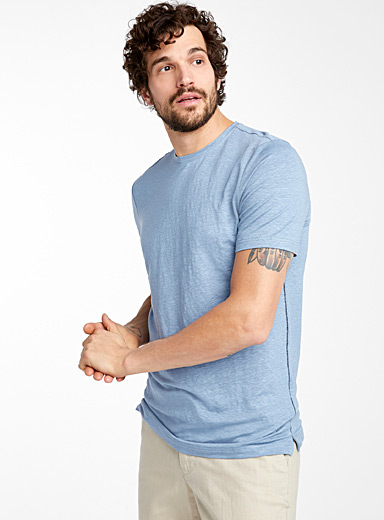 Stretch linen T-shirt