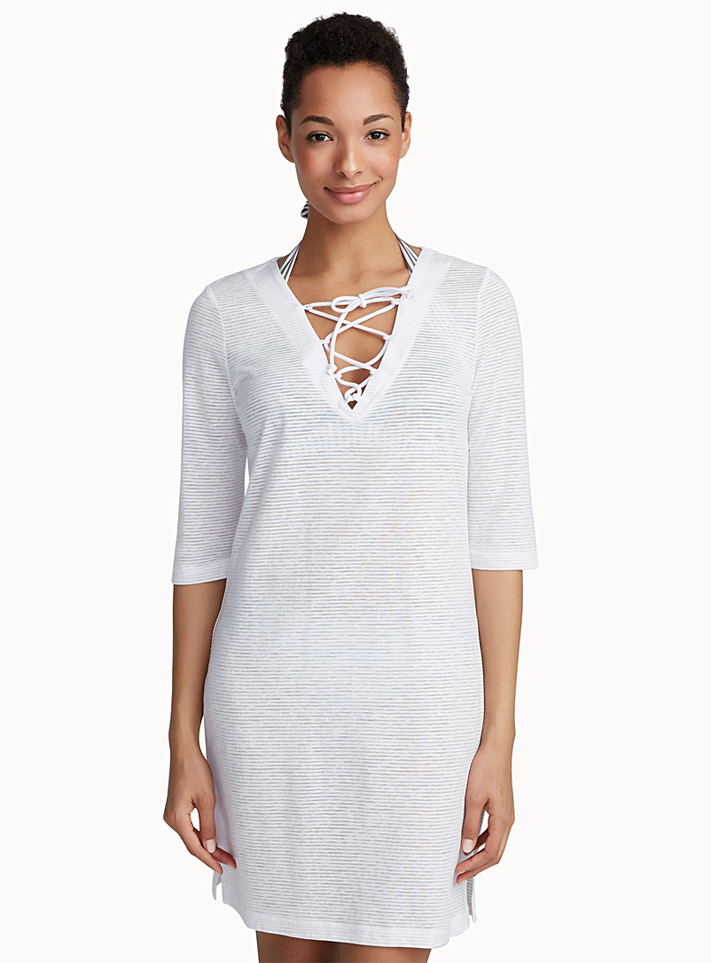 laced-v-neck-burnout-beach-tunic