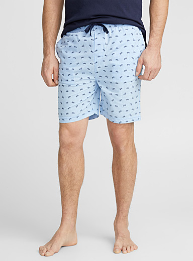 Patterned poplin lounge Bermudas