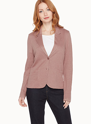 Pure linen cardigan jacket