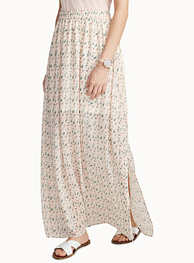 Light voile maxi skirt