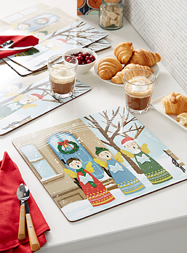 Little choristers laminated cork placemats  Set of 4