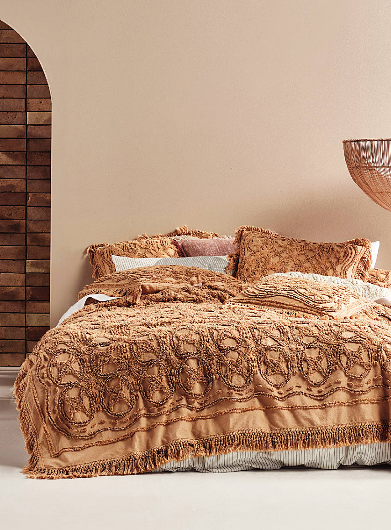 Linen House Brown Somers biscotti bedcover