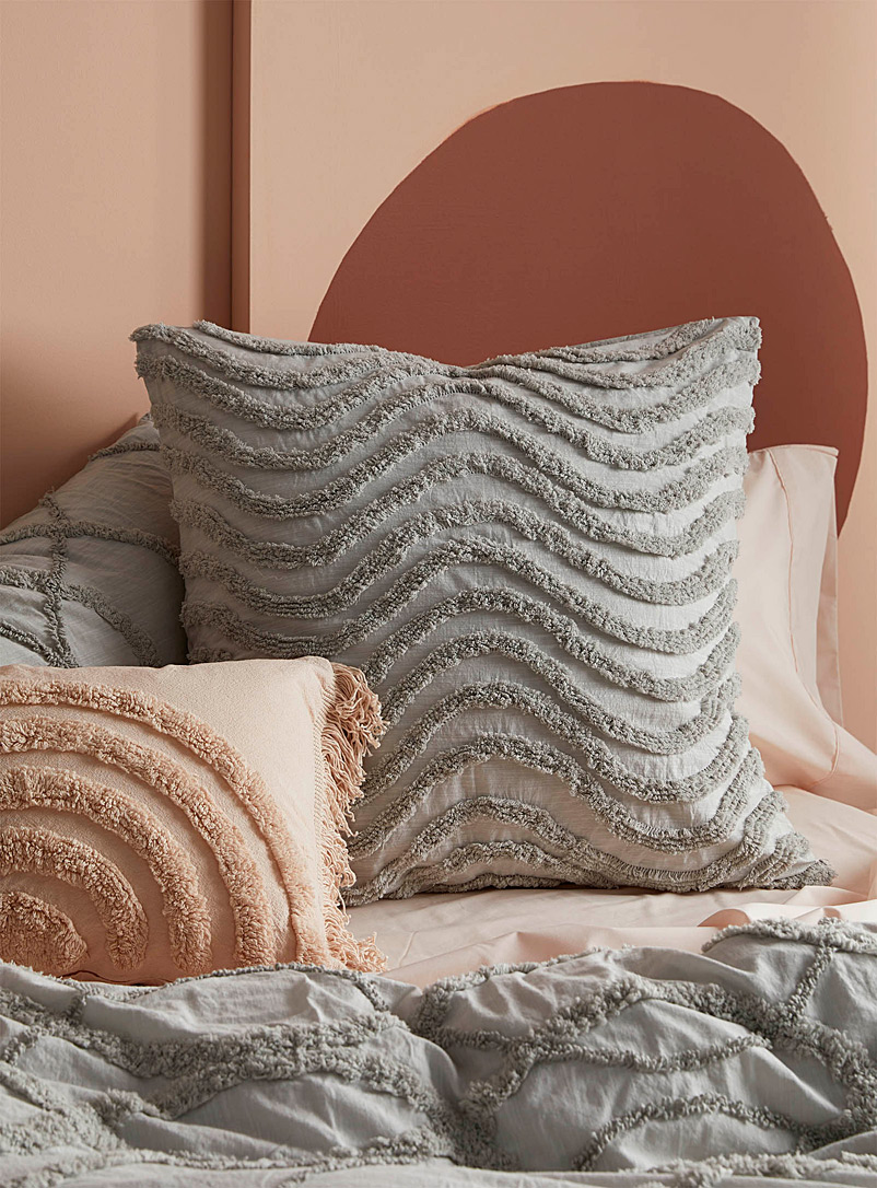 Linen House Light Grey Amadora Euro pillow sham
