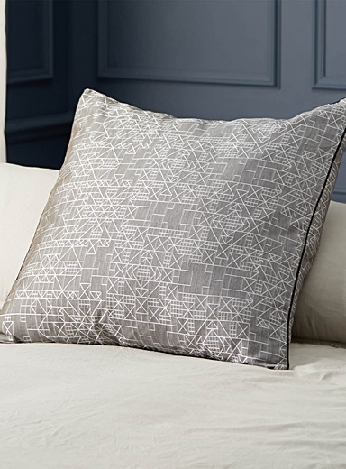 Architectural jacquard euro pillow sham