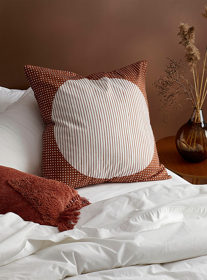 Solar terracotta Euro pillow sham