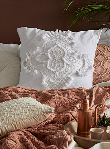 White Alli Euro pillow sham