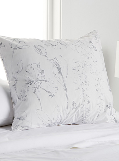 Floral fresco euro pillow sham