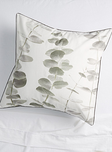 Eucalyptus branch Euro pillow sham