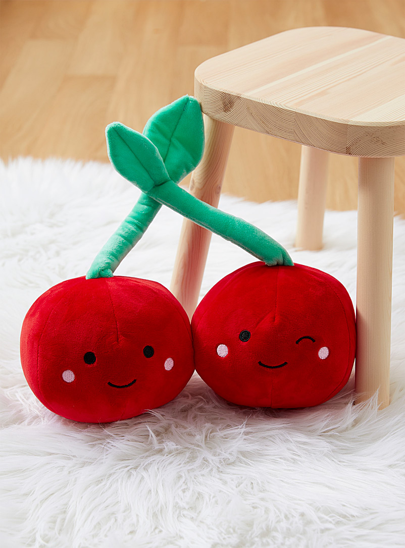 Hiccups Assorted Cheerful cherry plush cushion