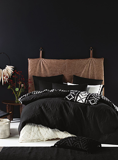 Pitch black duvet cover set