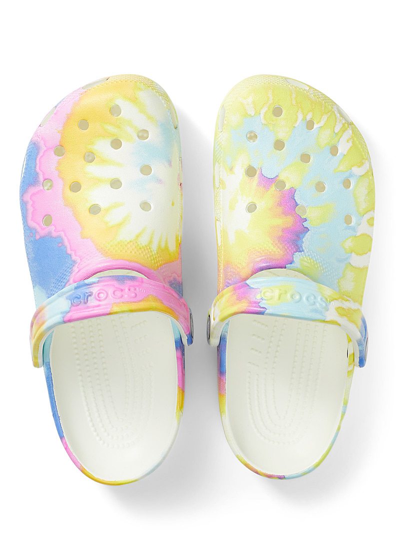 Crocs Patterned White Classic Tie-Dye Graphic clogs Women for women