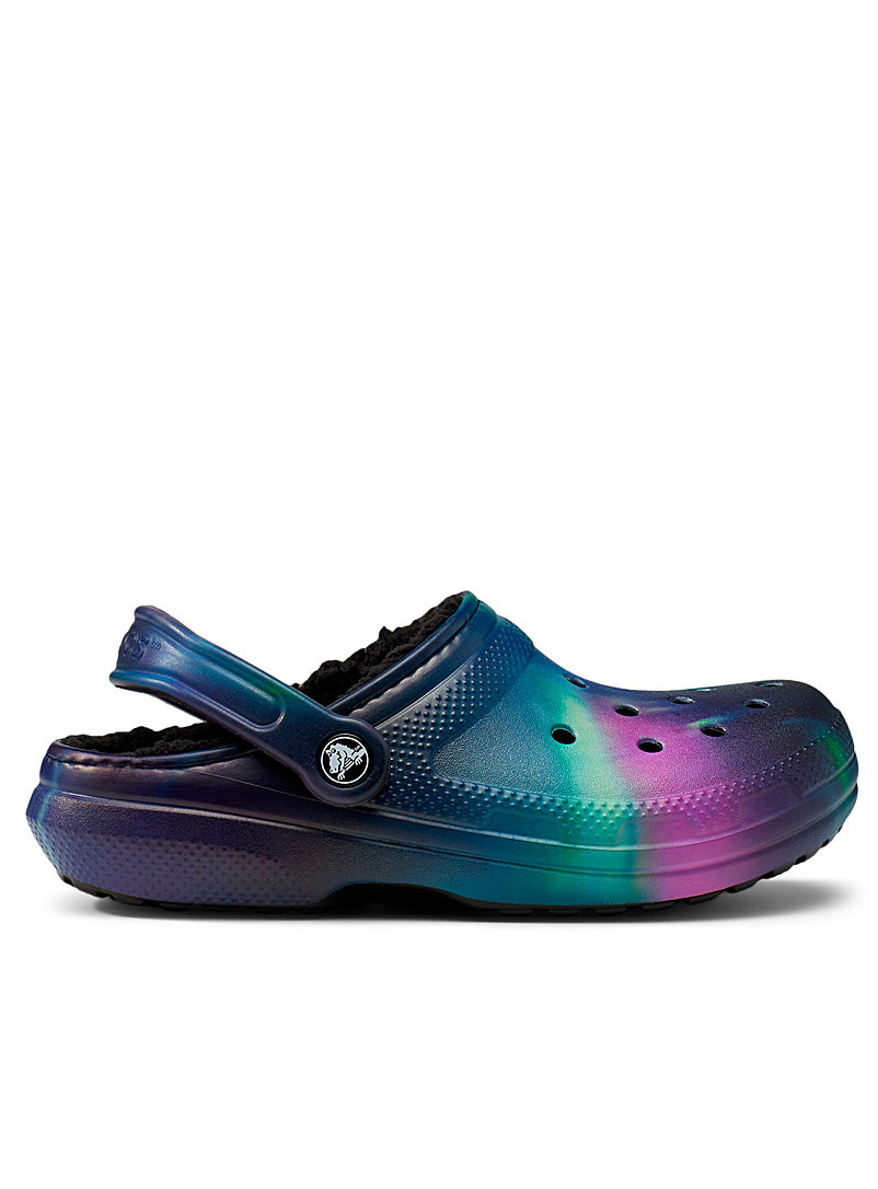 Crocs Mauve Out of This World lined Classic clog slipper for women