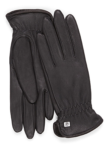 Thermal lining deerskin gloves