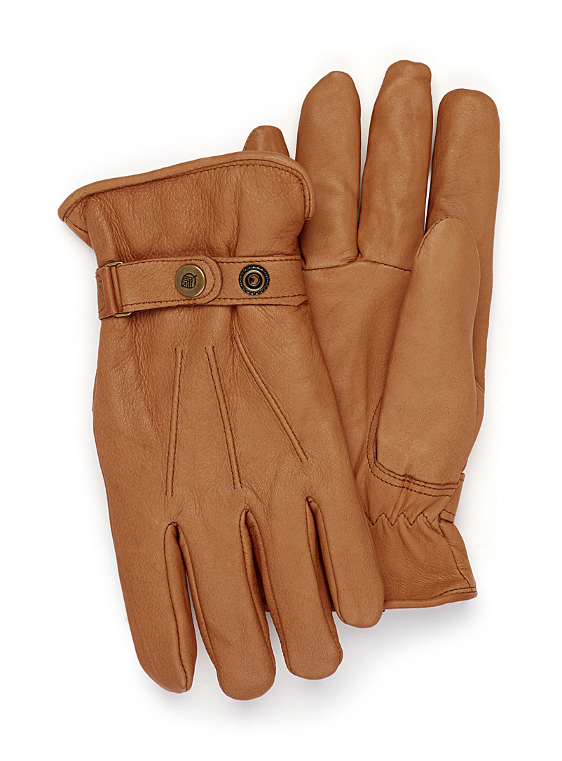 Le 31 Honey Minimalist leather gloves for men