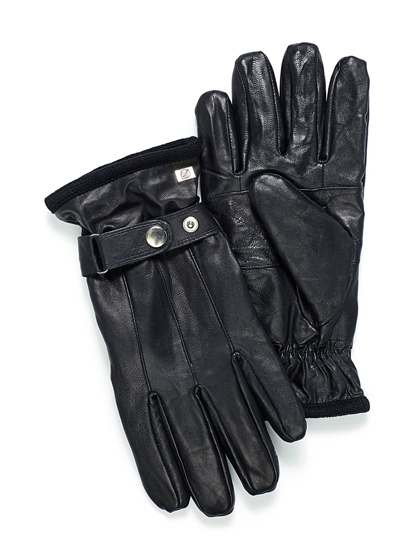 Le 31 Black Soft leather gloves for men